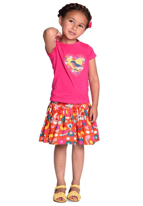 ルームセブン【S18GJE025】トリさんTシャツ104サイズ
