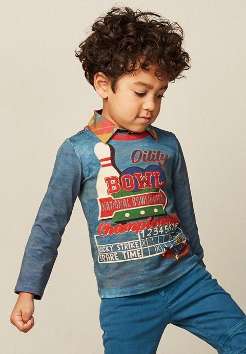 OILILY【YF17BJE505】ボウリングTシャツ104サイズ