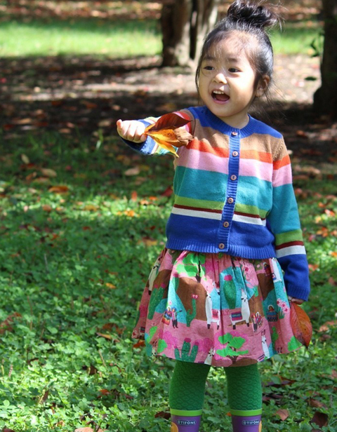 OILILY【YF18GSK001】ピンクLAMAプリントスカート 80 92 104 116 128140 152サイズ