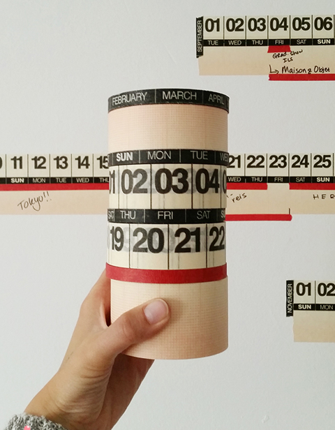 マスキングテープ式カレンダー YEAR ROUND