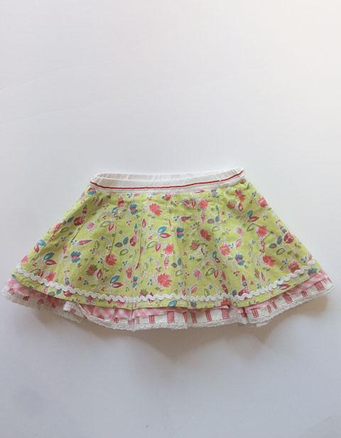 【YS12GSK019】花柄スカート  80サイズ