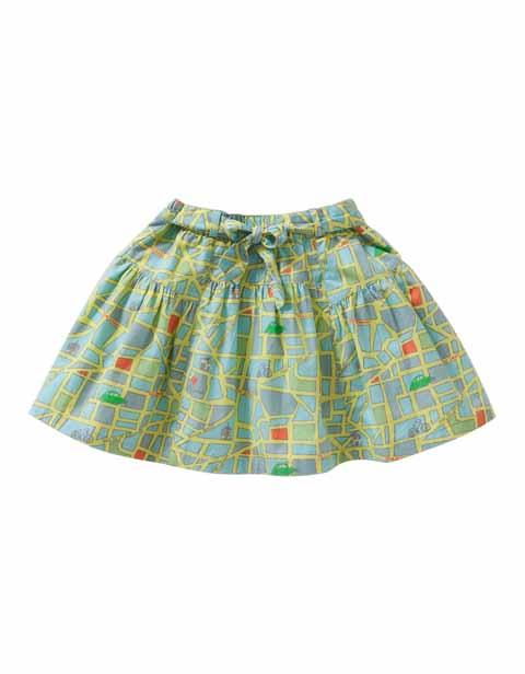 【YS16GSK214】MAPプリントスカート  104サイズ