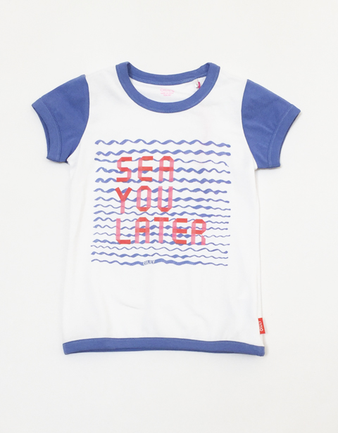 Oilily 【YS17GJE221】Sea you later 文字遊び T-shirt  104サイズ