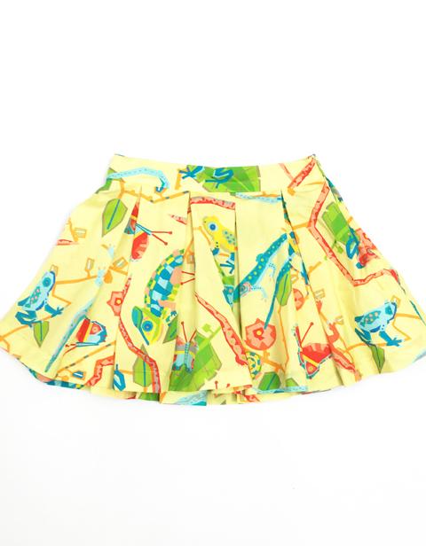 OILILY【YS17GSK213】カラフルアニマル柄 スカート 104サイズ