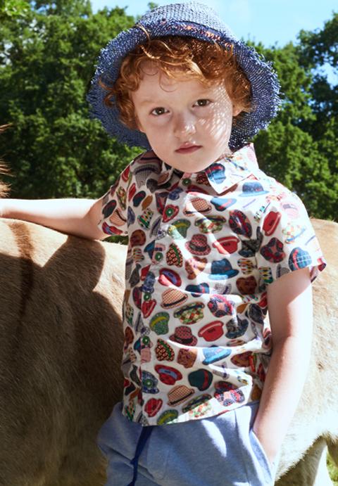 OILILY【YS18BBL501】帽子柄シャツ104/116/128/140/152サイズ