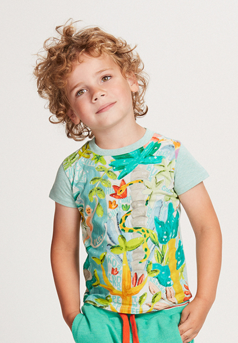 OILILY【YS18BJE503】カラフルジャングルTシャツ128/152サイズ