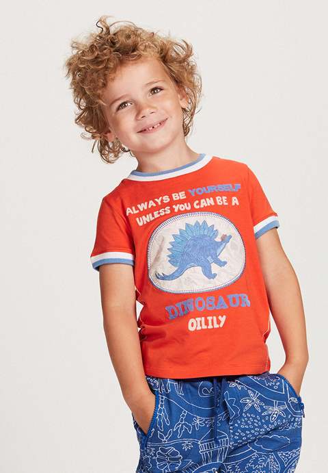 OILILY【YS18BJE505】ティノサウルスTシャツ104/116/128/140/152サイズ