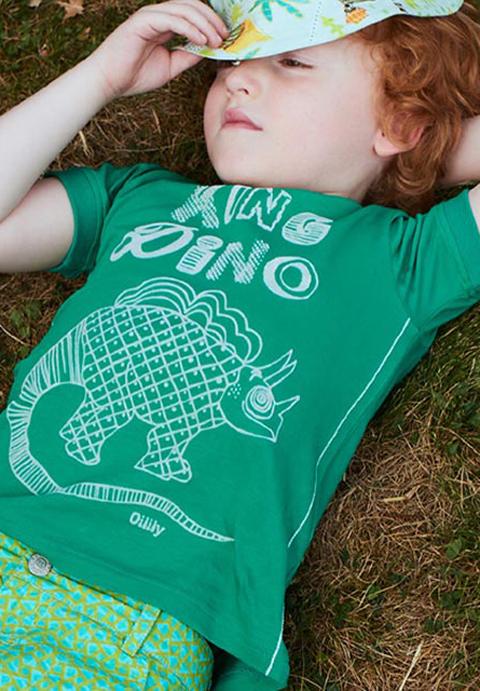 OILILY【YS18BJE507】恐竜図鑑Tシャツ116/152サイズ