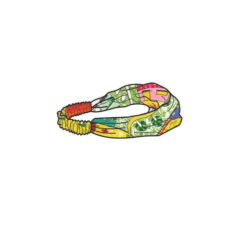 OILILY【YS18GAC202】Oililyビレッジ柄ヘアバンドFreeサイズ