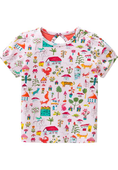 OILILY【YS18GJE002】オイリリーの家ピンクTシャツ 80/92/116/128サイズ