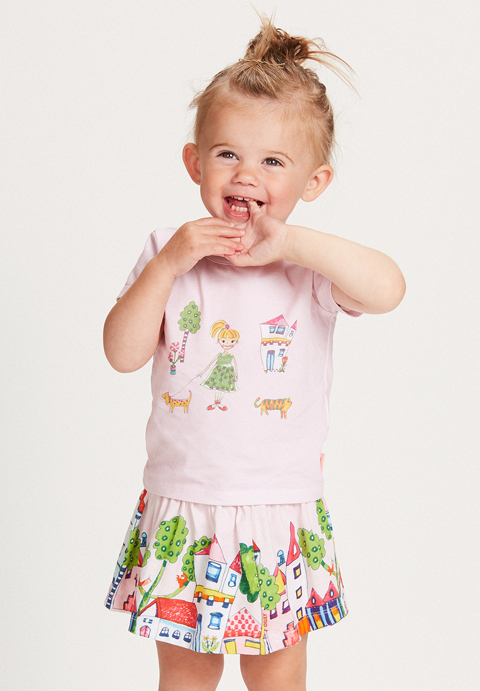 OILILY【YS18GJE005】女の子プリントTシャツ80サイズ