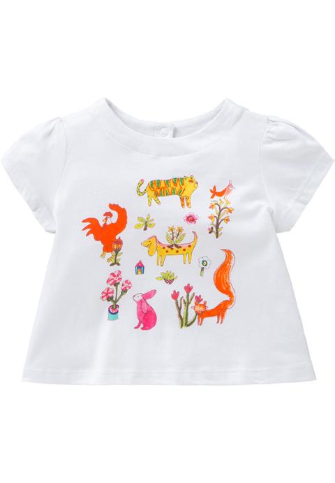 OILILY【YS18GJE008】アニマルプリントTシャツ 80/104/116/128サイズ