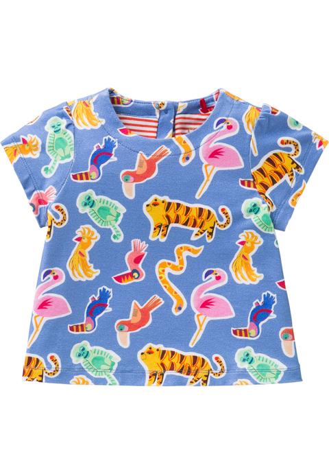 OILILY【YS18GJE009】アニマルプリントAラインTシャツ 80/92/104/116サイズ