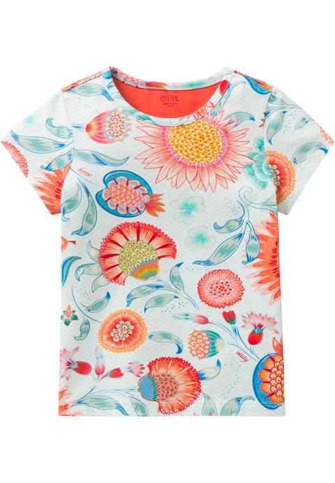 OILILY【YS18GJE210】花柄Tシャツ 92/104/116/128/140/152/164/176サイズ