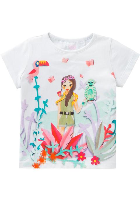 OILILY【YS18GJE211】ジャングル柄Tシャツ 92/104/128サイズ
