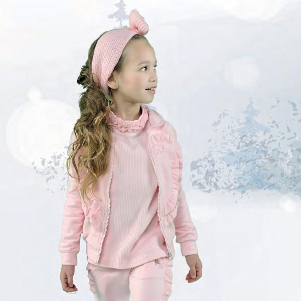 【Le Chic】でっかいハートカーディガン<ピンク>116/128/140/152サイズ 柔らか素材
