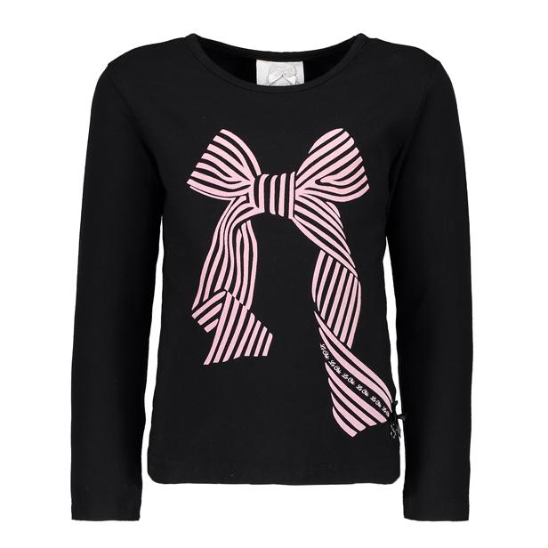 【Le Chic】大きなリボン長袖Tシャツ<黒>104/116/128/140/152サイズ