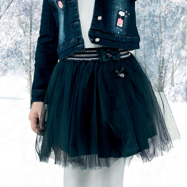 【Le Chic】チュチュスカート<紺>128/140/152サイズ クリスマス パーティー用