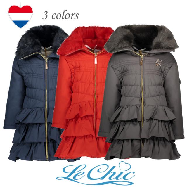【Le Chic ルシック】 アウター ロングコート3色展開 116 128 140 152 サイズ