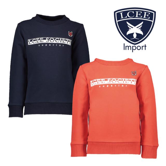 【LCEE】 Basicトレーナー 2色 赤&ネイビー 116 128 140 152 サイズ