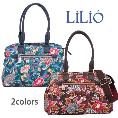 LiLiO【LIL9521】2WAYバッグ ショルダーストラップ付 パソコン収納付 2色展開
