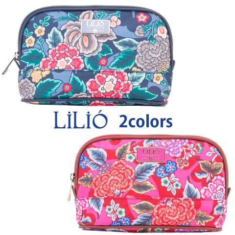 LiLiO【LIL9532】色がきれいなポーチ 3色展開