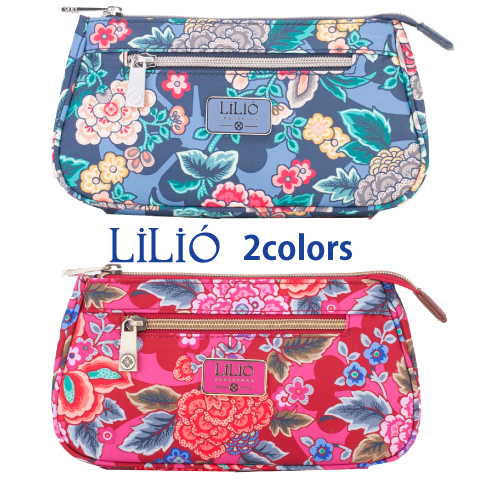 LiLiO【LIL9533】Basic Cosmetic Bag 3色展開【ゆうパケット可】