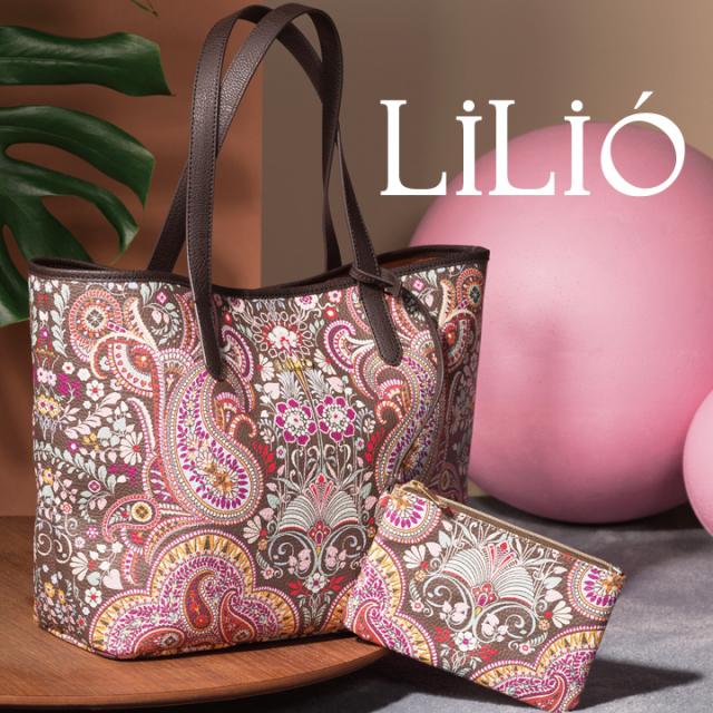 LiLiO【LIL9540】トートバッグ ポーチ付き A4収納