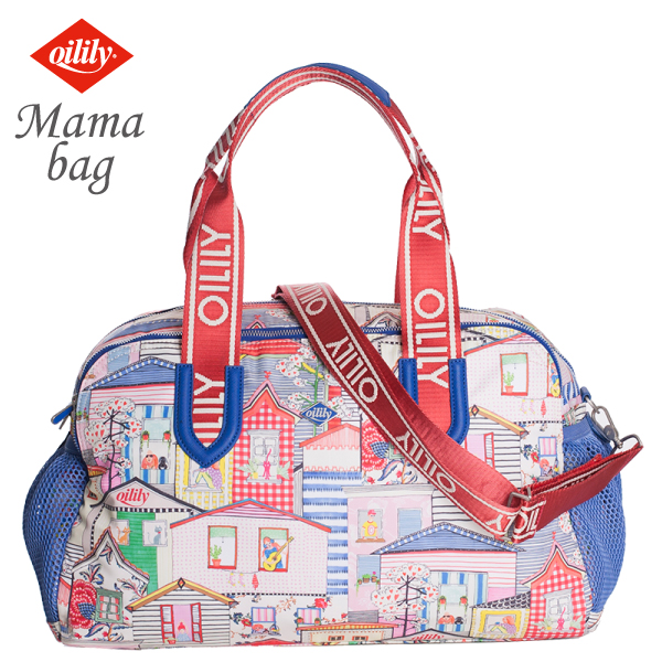 OILILY【OIL0140】ママバッグ 街並みプリント レディース 大人