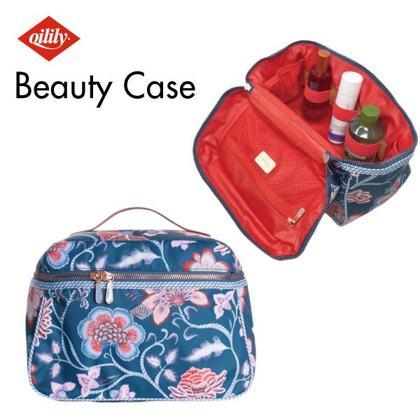 【oil0212】Beauty Case 化粧ポーチ 花柄