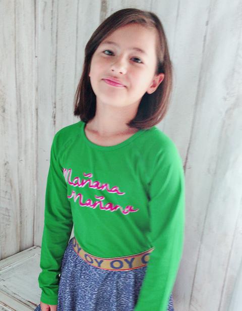 OILILY【YF18GJE219】グリーンロゴTシャツ 92/104/116/128/140/152サイズ