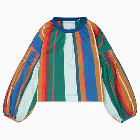 【YF19GJE214】マルチカラー ストライプTシャツ 104-152cm