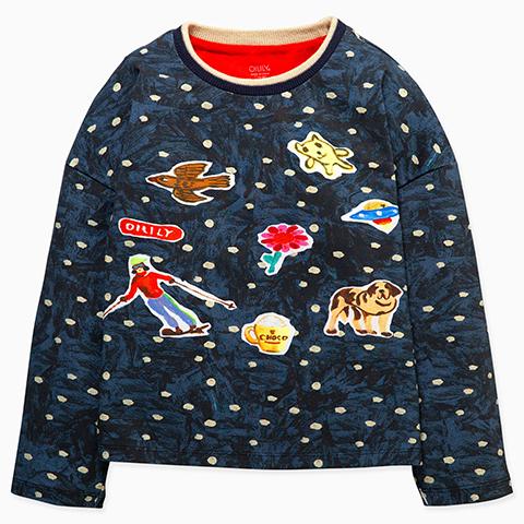 【YF19GJE216】ゲレンデOILILY 長袖Tシャツ 104-152cm
