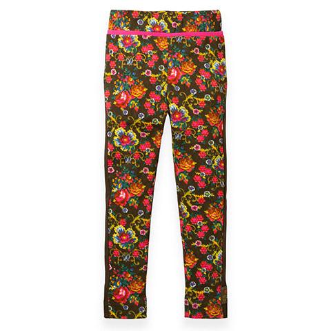 【YF19GPA287】モザイクフラワー 小花柄カットソーパン レギンス ベビー 80-104cm