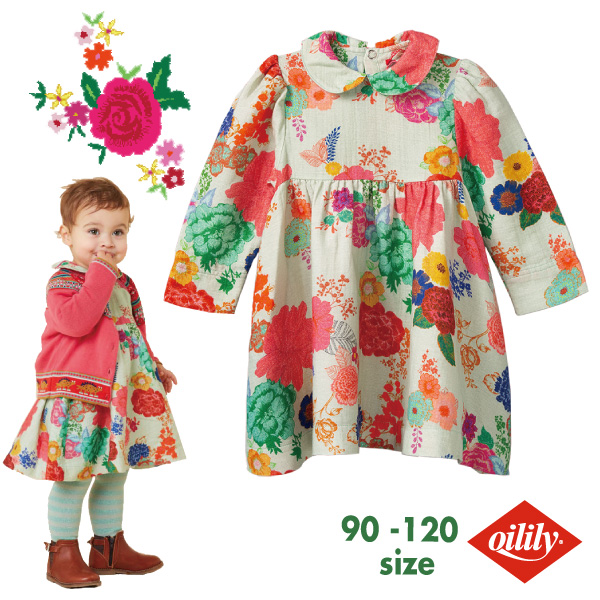 OILILY オイリリーDjentle dress【yf20gdr004】86 92 104 116 サイズ