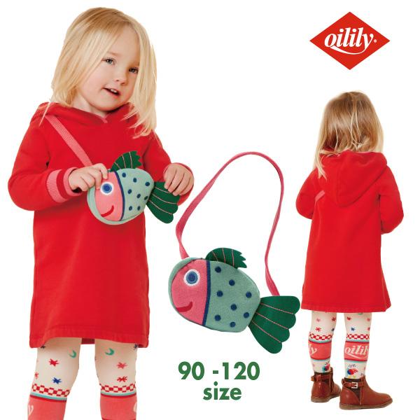 OILILY オイリリーお魚バッグ付き スウェットワンピース 赤色【yf20gdr064】86 92 104 116 サイズ