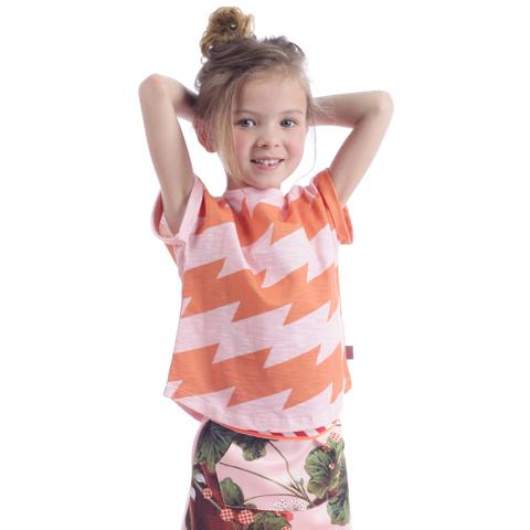 OILILY【YS19GJE223】変形ボーダードルマンTシャツ 104 116 128 140 152サイズ