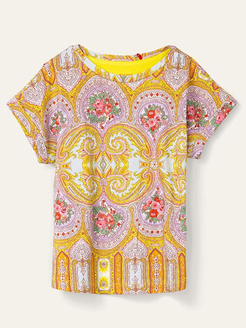 OILILY【YS20GJE210】きいろベース オベーションプリントTシャツ  size 116 128 140 152