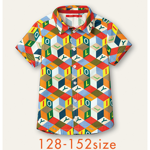 【YS21BBL501】Bonk シャツ 半袖 ブラウス 128 140 152サイズ