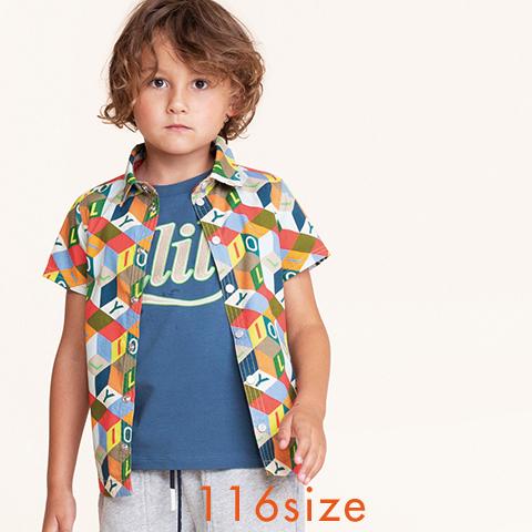 【YS21BBL501】Bonk シャツ 半袖 ブラウス 116サイズ