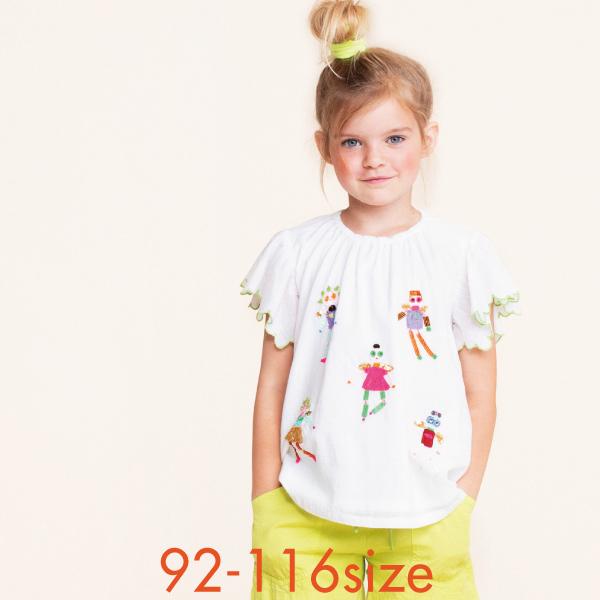 【YS21GBL203】 ブラウス チュニック ロボットエンジェル 92 104 116サイズ