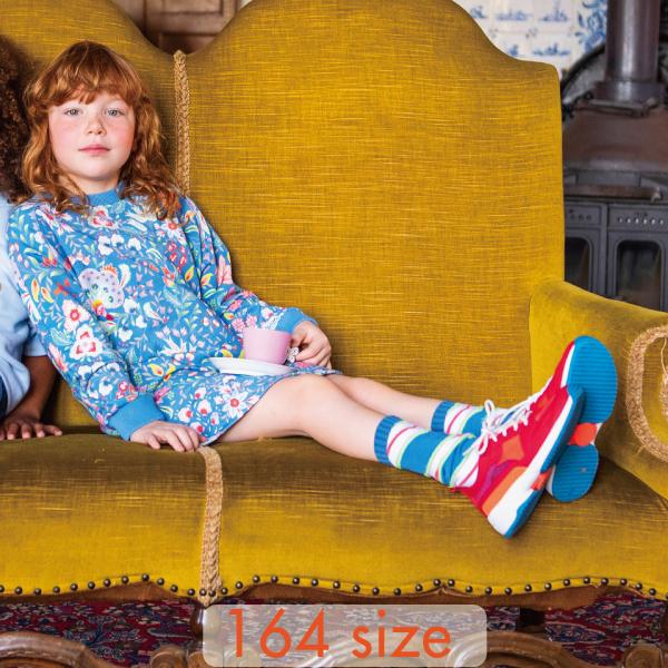 【YS21GDR265W】パステルカラー ブルー スウェット ワンピース  164サイズ