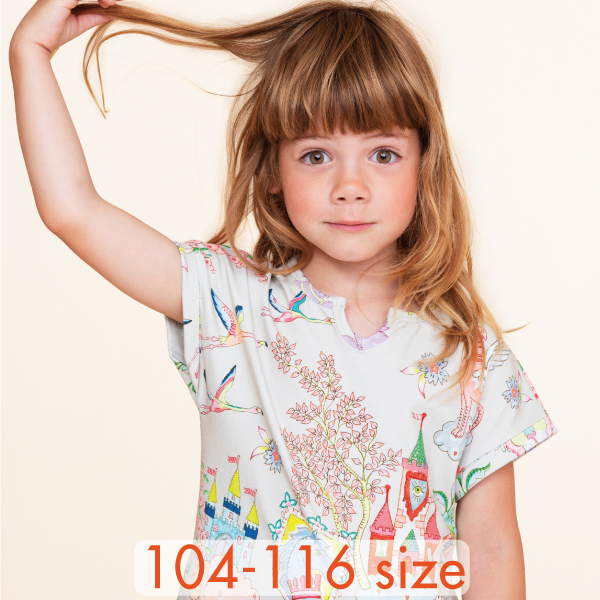 【YS21GDR285】夢のお城  カットワンピース 104 116サイズ