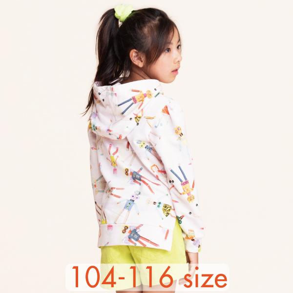 【YS21GHJ201】ロボットエンジェル フーディ パーカー  104 116サイズ