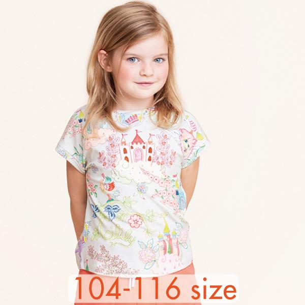 【YS21GJE209】夢のお城 Tシャツ  104 116サイズ