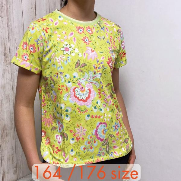 【YS21GJE210W】パステルフラワープリント Tシャツ 164 176サイズ