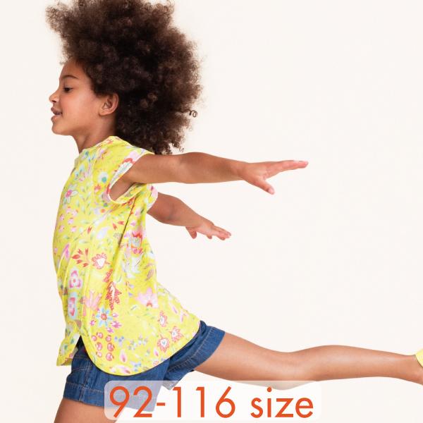 【YS21GJE210】パステルフラワープリント Tシャツ  92 104 116サイズ