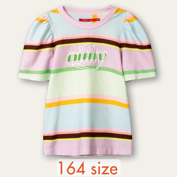 【YS21GJE220W】ボーダー パフスリーブ Tシャツ  164サイズ