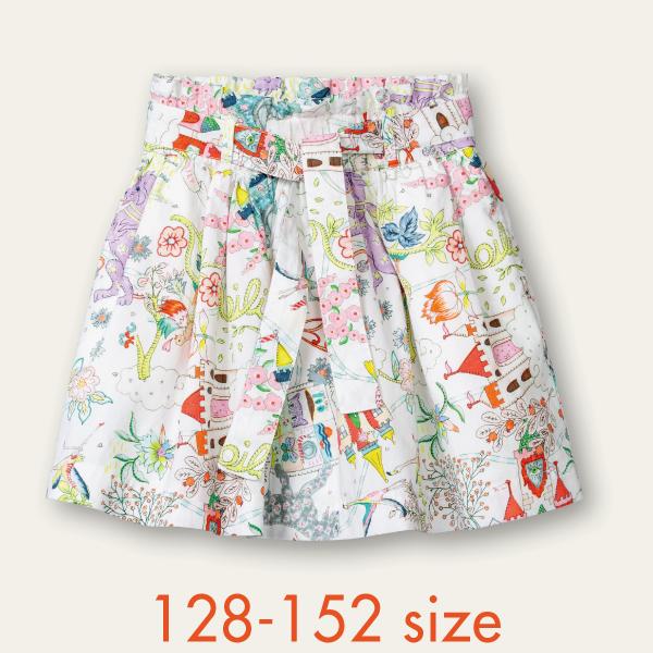 【YS21GSK203】夢のお城 プリント スカート  128 140 152サイズ