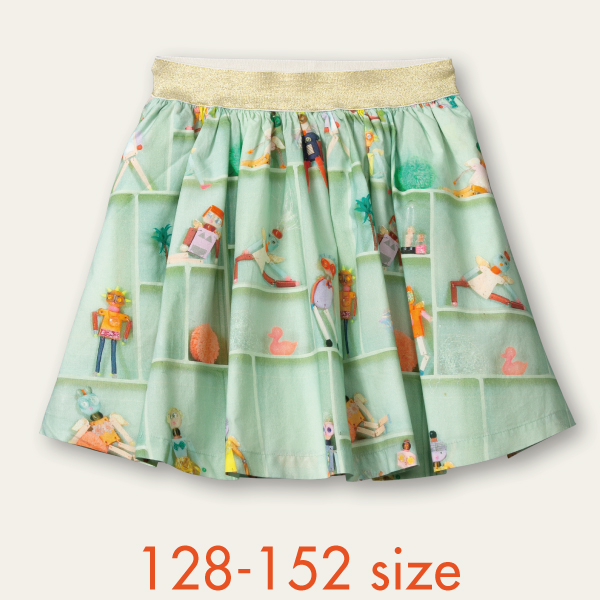 【YS21GSK204】ロボットエンジェル スカート 128 140 152サイズ